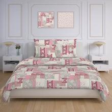 Пододеяльник 2-спальный перкаль Лоскутная мозаика розовый Трехгорная мануфактура