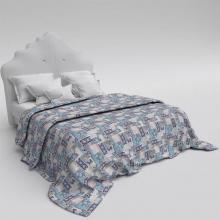 Пододеяльник 2-спальный перкаль Лоскутная мозаика синий Трехгорная мануфактура