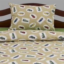 Комплект постельного белья 1,5-спальный детский перкаль Старинные машинки Трехгорная мануфактура