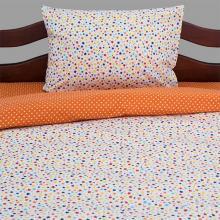 Комплект постельного белья 1,5-спальный детский перкаль Фейерверк оранжевый Трехгорная мануфактура