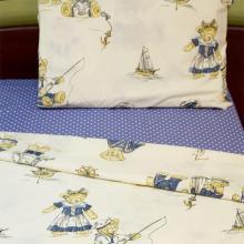 Комплект постельного белья 1,5-спальный детский бязь Мишки-морячки Трехгорная мануфактура