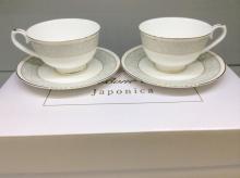Набор чайных пар на 6 персон костяной фарфор Антик Japonica Япония