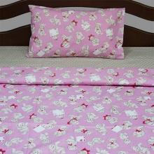 Комплект постельного белья для малышей перкаль Тедди алый Трехгорная мануфактура