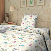 Комплект постельного белья для малышей перкаль Принцессы бежевый Трехгорная мануфактура