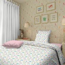 Комплект постельного белья для малышей перкаль Собачки розовый Трехгорная мануфактура
