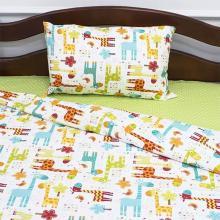 Комплект постельного белья для малышей перкаль Жирафики зелёный Трехгорная мануфактура