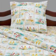 Комплект постельного белья для малышей перкаль Морской пейзаж Трехгорная мануфактура