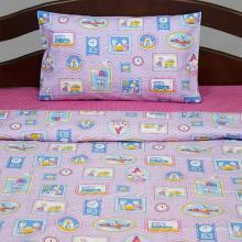 Комплект постельного белья для малышей перкаль Мышиная история розовый Трехгорная мануфактура