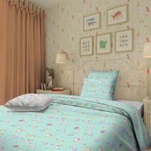 Комплект постельного белья для малышей перкаль Принцессы зелёный Трехгорная мануфактура