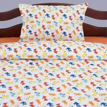 Комплект постельного белья для малышей перкаль Собачки оранжевый Трехгорная мануфактура
