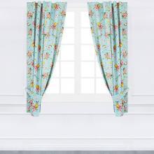 Шторы на кухню 290х180 см Кролик с цветами чесуча Трехгорная мануфактура