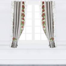 Шторы на кухню 290х180 см Цветок граната Стиль Трехгорная мануфактура