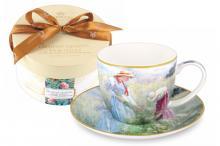 Чашка с блюдцем Васильки, в подарочной упаковке