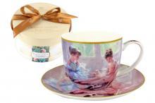 Чашка с блюдцем Балерины у окна,  в подарочной упаковке