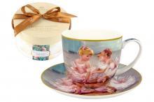 Чашка с блюдцем Балерины, в подарочной упаковке