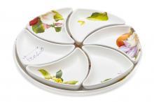 Набор для закуски (менажница): блюдо + 6 блюд Фреско