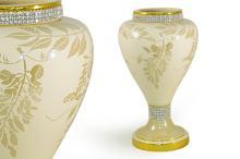 Декоративная ваза   Глициния кремовая